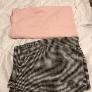forever 21 gingham skirt set